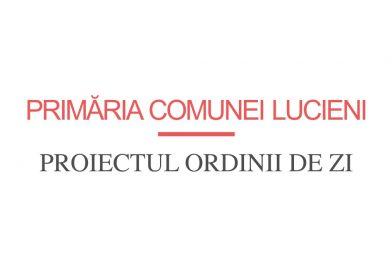Primăria Com. Lucieni: Proiectul ordinii de zi – Ședința ordinară 30.07.2019