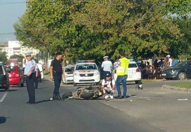 Mopedist rănit grav, pe Calea Câmpulung