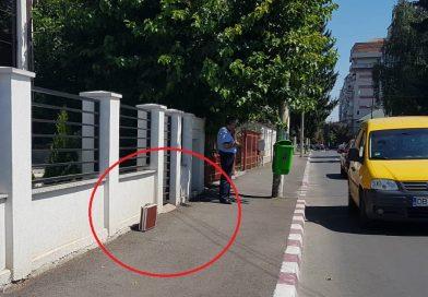 TÂRGOVIȘTE: Valiză suspectă, pe o stradă din municipiul Târgoviște