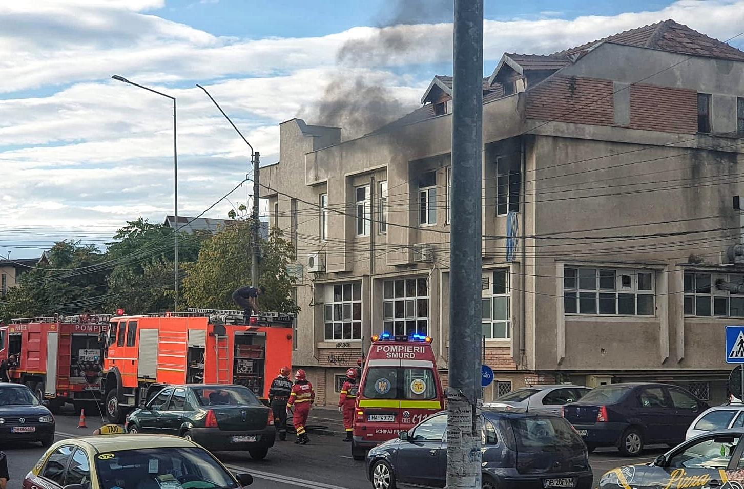 """Târgoviște: Incendiu la Complexul de ajutor Social """" Floare de colț"""""""