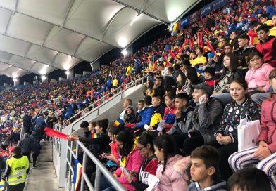 Micii dâmbovițeni au susținut, aseară, echipa României pe Arena Națională