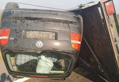 Uliești: Răsturnare pe autostrada A1