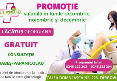 Testul Babeș Papanicolau, gratuit, la Centrul Medical Valleriana din Târgoviște