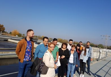 Lecție în teren! Studenții de la Valahia, documentare la Stația de Epurare Ape Uzate Târgoviște Sud