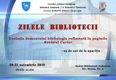 Zilele Bibliotecii Județene I.H. Rădulescu se desfășoară între 20 și 23 noiembrie