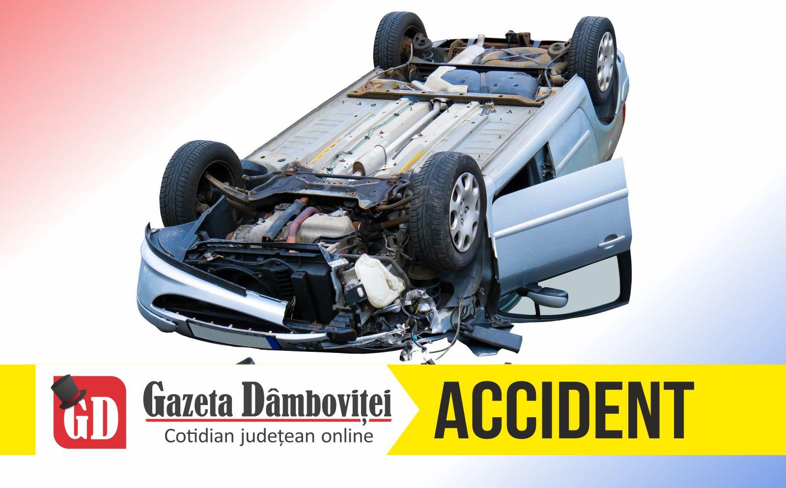 DRAGOMIREȘTI: Victima unui accident auto refuză spitalizarea
