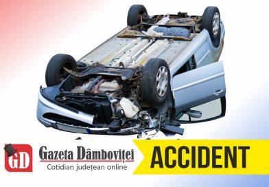PITARU: Șofer rănit după ce a ieșit cu mașina în decor