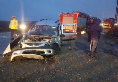 Accident grav pe DN 72 – Două persoane încarcerate. S-a circulat alternativ