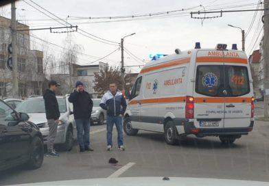 Accident în centrul Târgoviștei. O femeie a ajuns la spital