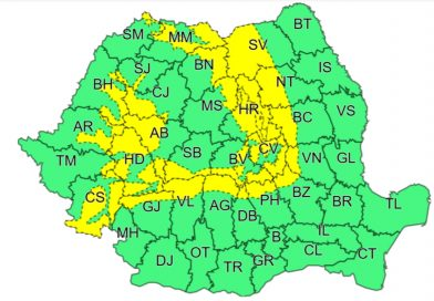 DÂMBOVIȚA: COD GALBEN pentru zona montană