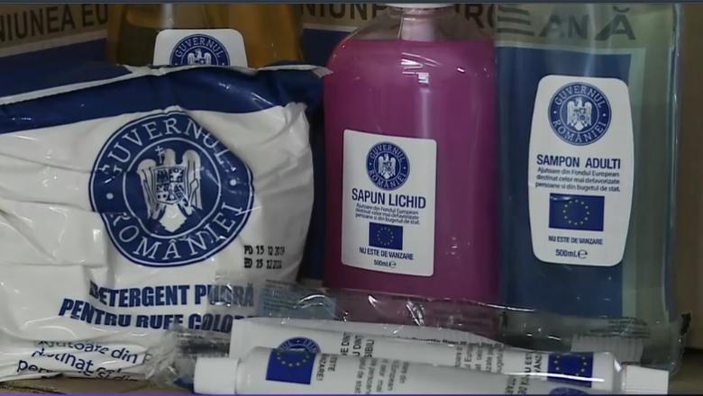Dâmbovițenii asistați social nu vor mai primi hrană de la UE, ci săpun și detergent