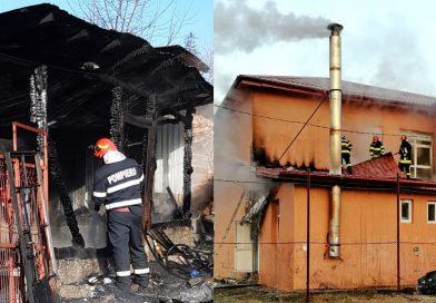 Încălziți locuința cu lemne? Mare atenție! Două clădiri au luat foc ieri de la coșul de fum