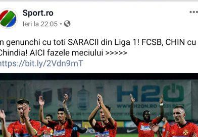 """Rușine Sport.ro! """"În genunchi cu toți SĂRACII din Liga 1! FCSB, CHIN cu Chindia!"""""""