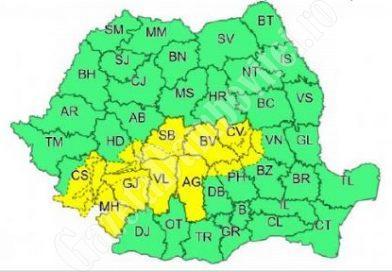 Nordul județului afectat de cod galben de precipitații mixte și vânt