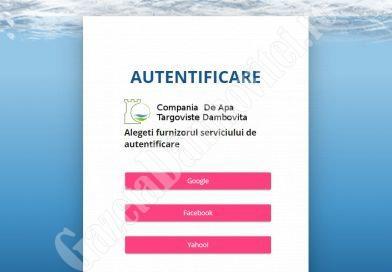 DÂMBOVIȚA Covid-19: Folosiți portalul catd.ro, pentru a transmite indexul și a face plata serviciilor Companiei de Apă!