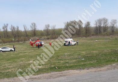 BILCIURESTI : Un copil de 10 ani, rănit grav, a fost transportat cu elicopterul SMURD