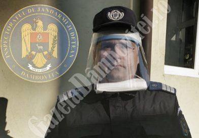 IJJ DÂMBOVIȚA: Viziere de protecție donate de un întreprinzător privat