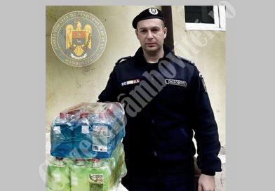 ȘTIREA DE BINE: Un tânăr antreprenor găeștean, donație de dezinfectant pentru jandarmii dâmbovițeni