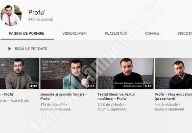 ȘTIREA DE BINE: Un tânăr profesor face vloguri pe teme de limba română pentru elevii de acasă