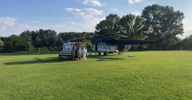 DÂMBOVIȚA: Trei pacienți Covid-19, în stare gravă, duși cu elicopterul în alte județe