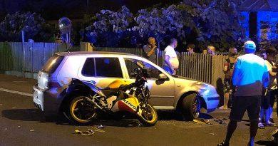 TÂRGOVIȘTE: Un motociclist a ajuns la spital după impactul cu un autoturism