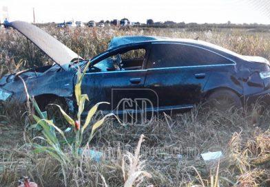 Nerespectarea regulilor și o mașină puternică, combinație aproape mortală, pe DN 72, la Dărmănești