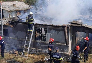 Incendiu la o casă din localitatea Mircea Vodă