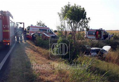 Accident la Mătăsaru, pe DN 7. Un șofer era băut, iar celălalt nu s-a asigurat