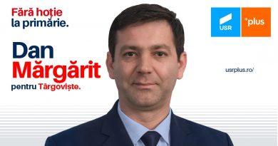 Mesajul lui Dan Mărgărit, candidatul USR PLUS, pentru târgovișteni