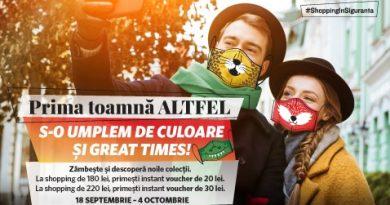 """""""Prima Toamnă ALTFEL"""" aduce cadouri instant pentru clienții Ploiești Shopping City"""