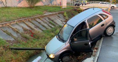 Încă un șofer era să ajungă în Iazul Morilor