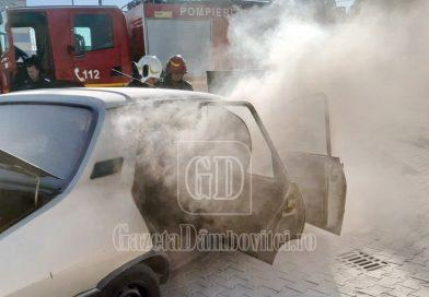 Un autoturism a luat foc în parcare la Supeco