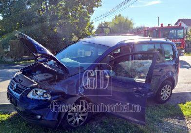 Accident în Găești soldat cu pagube materiale