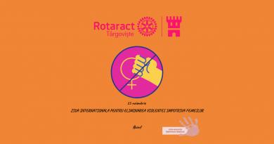 Rotaract Club Targoviste propune hashtag`ul #ZIEVF, campanie online contra violenței asupra femeilor