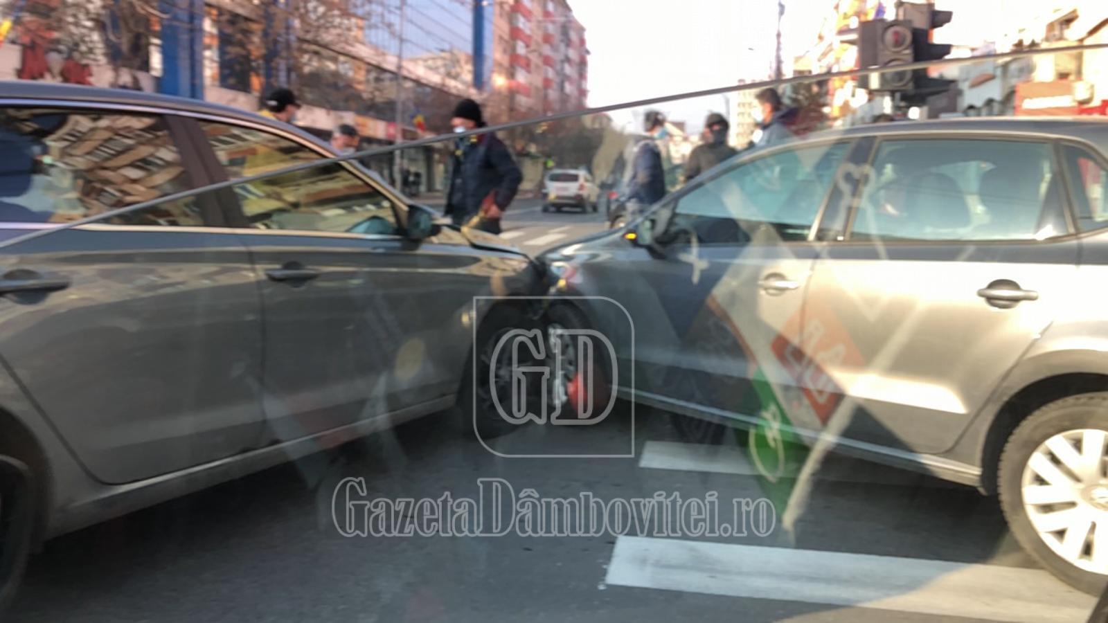 Accident în centrul municipiului Târgoviște
