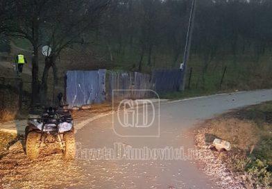 GORGOTA: Un tânăr de 19 ani s-a răsturnat cu ATV-ul