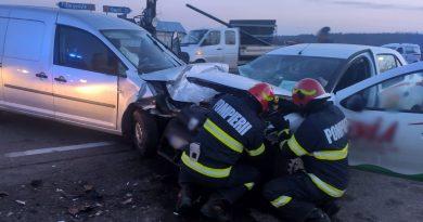 Accident grav la intersecția de al Lucieni, pe DN 72