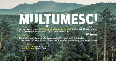 """Ploiești Shopping City lansează campania """"Natura unui MULȚUMESC"""", prima inițiativă care încurajează colectarea selectivă într-un centru comercial din Ploiești"""
