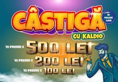 Câștigă cu Kaldio zeci de primii în bani, în fiecare lună