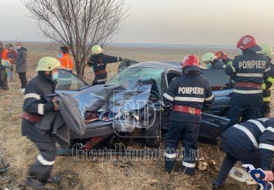 Încă un accident grav pe DN 71! Cinci persoane rănite, trafic blocat