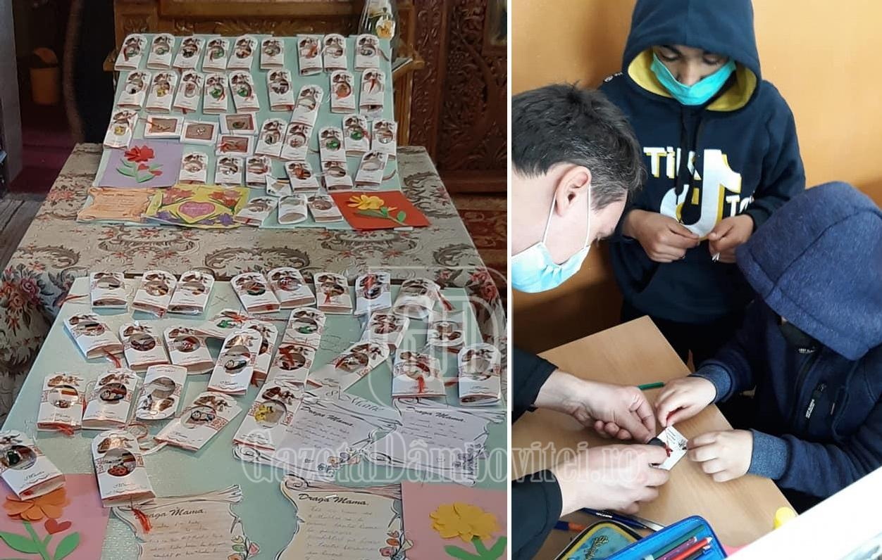 Copiii din Iazu au confecţionat mărţişoare pentru a ajuta alţi copii