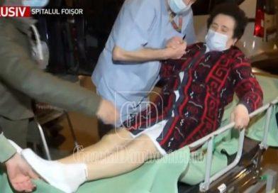 Târgovișteancă evacuată din Spitalul Foișor, transformat în suport Covid. Femeia este operată și are dureri mari