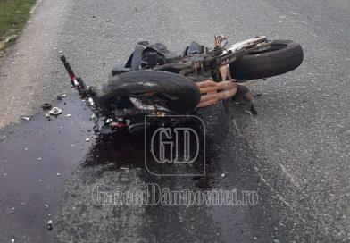 CORBII MARI: Un motociclist în vârstă de 20 de ani, rănit grav într-un accident