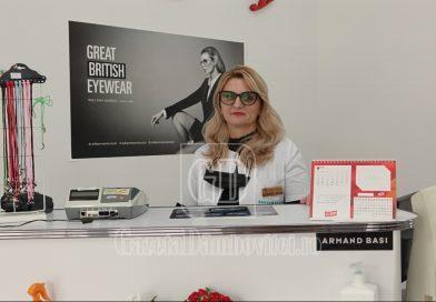 Iuliana Floroiu a revenit în Târgoviște cu un cabinet de optică medicală