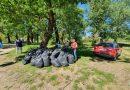 Zeci de saci de gunoi strânși de pe domeniul public în Moreni, într-o acțiune a USR PLUS