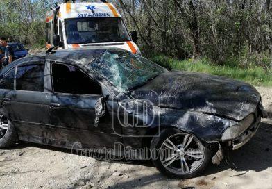 Un șofer și-a făcut praf BMW-ul, la Geangoești