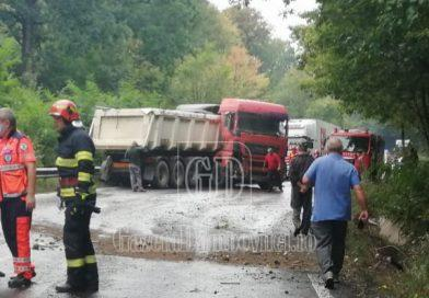 Trafic blocat pe DN 72, în urma unui accident petrecut în pădurea Dragodana