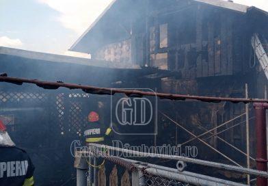 LUCIENI: Două persoane au suferit atacuri de panică, după ce focul le-a cuprins casa