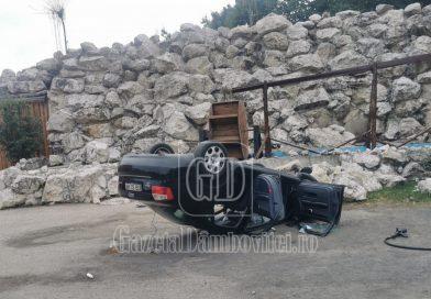 Încă un accident în Pădurea Dragodana. Un șofer s-a răsturnat cu mașina