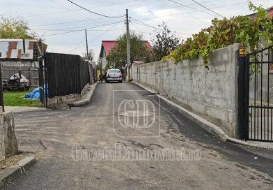 Asfalt și canalizare pe mai multe străzi ale unuia dintre cele mai sărace cartiere ale municipiului Târgoviște